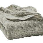 Couverture Grise en laine mérinos Disana