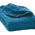 Couverture Bleue en laine mérinos Disana