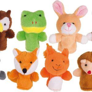 Marionnettes à doigts, animaux de la forêt GOKI