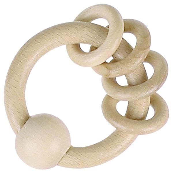 Hochet 4 anneaux nature HEIMESS