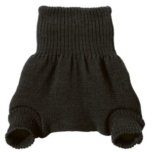 Culotte anthracite en laine mérinos Disana