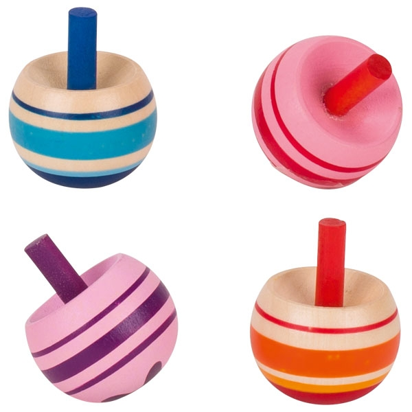 Toupies-culbutes colorées à rayures GOKI