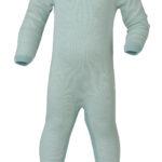Pyjama laine et soie Glacier rayé blanc – ENGEL