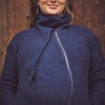 Manteau de portage Oslo en laine biologique Navy – Mamalila