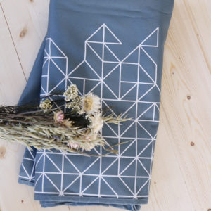 Écharpe de portage Gaïa – Lana X Tinge Garden