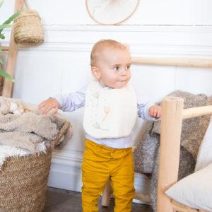 Bavoir 2ème âge en coton bio – Pitigaïa