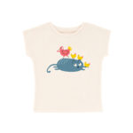 T-shirt blanc chat poule – La queue du chat