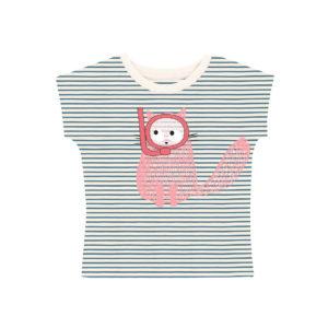 T-shirt rayé chat plongeur – La queue du chat