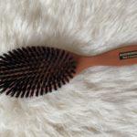 Brosse à cheveux en bois de poirier