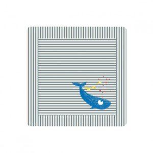 Cape de bain baleine bleue – La queue du chat