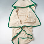 Cape de bain XL en coton biologique verte Lotties