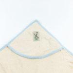 Cape de bain en coton biologique bleue Lotties