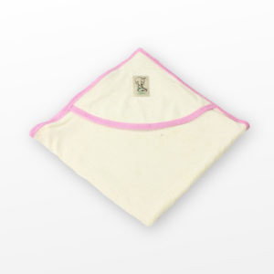 Cape de bain en coton biologique rose Lotties